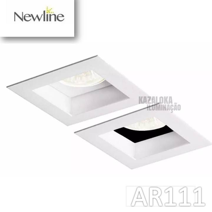 Spot de Embutir Direcionável AR111 GU10  Flat New Line