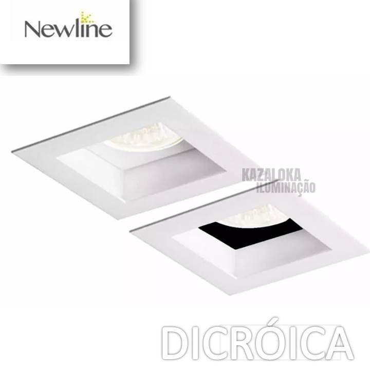 Spot de Embutir Direcionável Dicróica GU10 Flat New Line