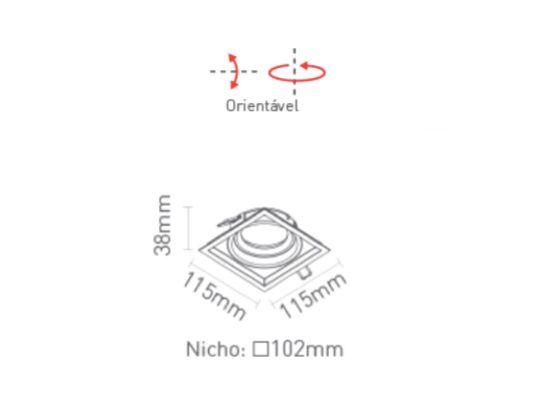 Spot de Embutir Il Direcionável Recuado Dicroica Sistema Click