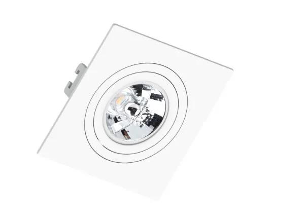 Spot de Embutir Teto Direcionável Orbital Quadrado AR70 GU10