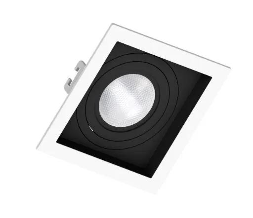 Spot de Embutir Teto Direcionável Orbital Quadrado Par20 E27