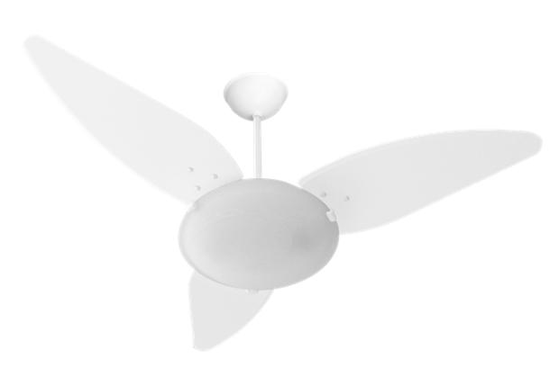 Ventilador De Magnes 3 Pás Laqueadas Branco 127v Para 2xe27