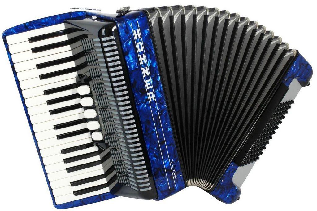 Acordeon Hohner Amica V3 72 Baixos Blue com Case
