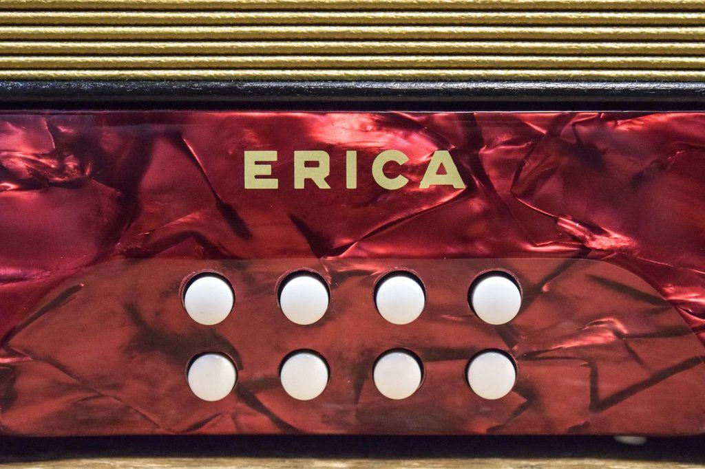 Acordeon Hohner Erica 1600/2 GC HT Red com Capa