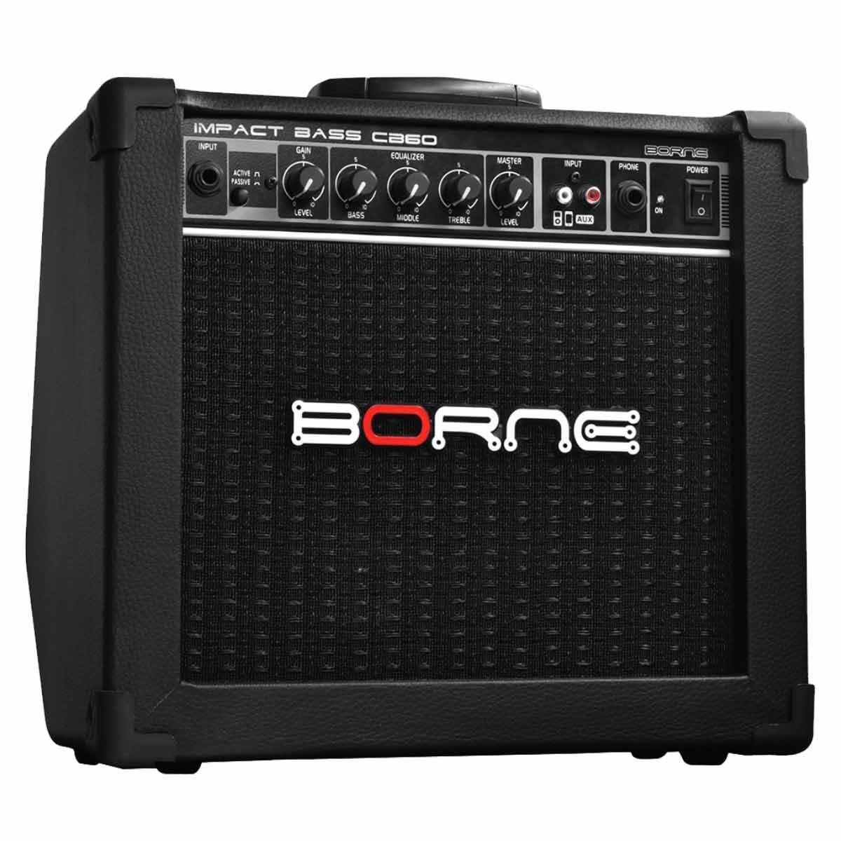 Amplificador Borne Impact Bass CB60 1x6,5 20W Preto
