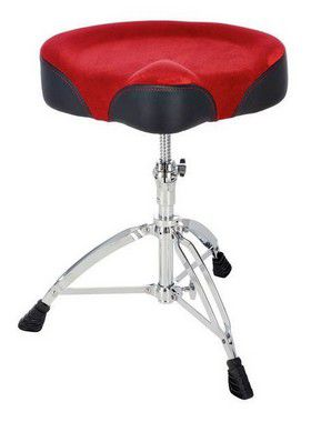 Banco Mapex Selim T765 Aser Red Cloth para Bateria