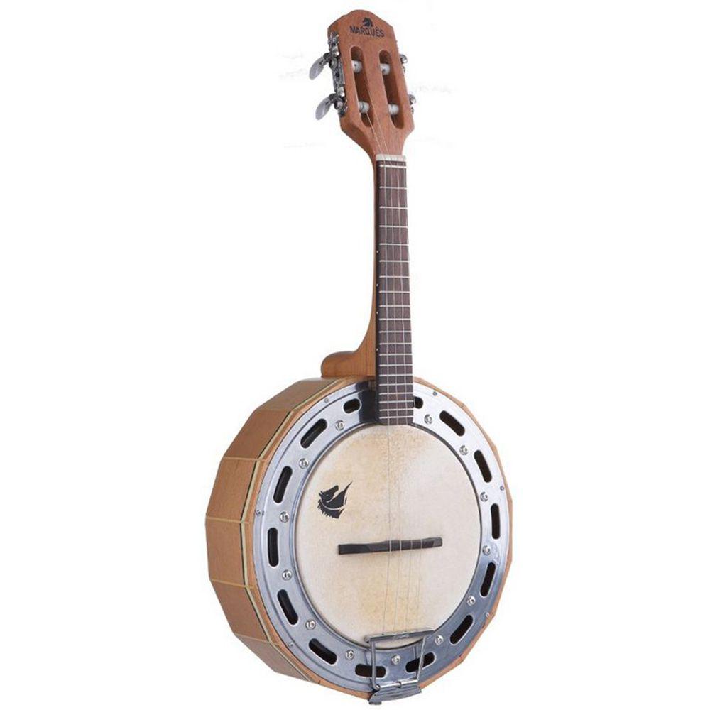 Banjo Acústico Marquês Baj-98 Madeira Ativo Natural