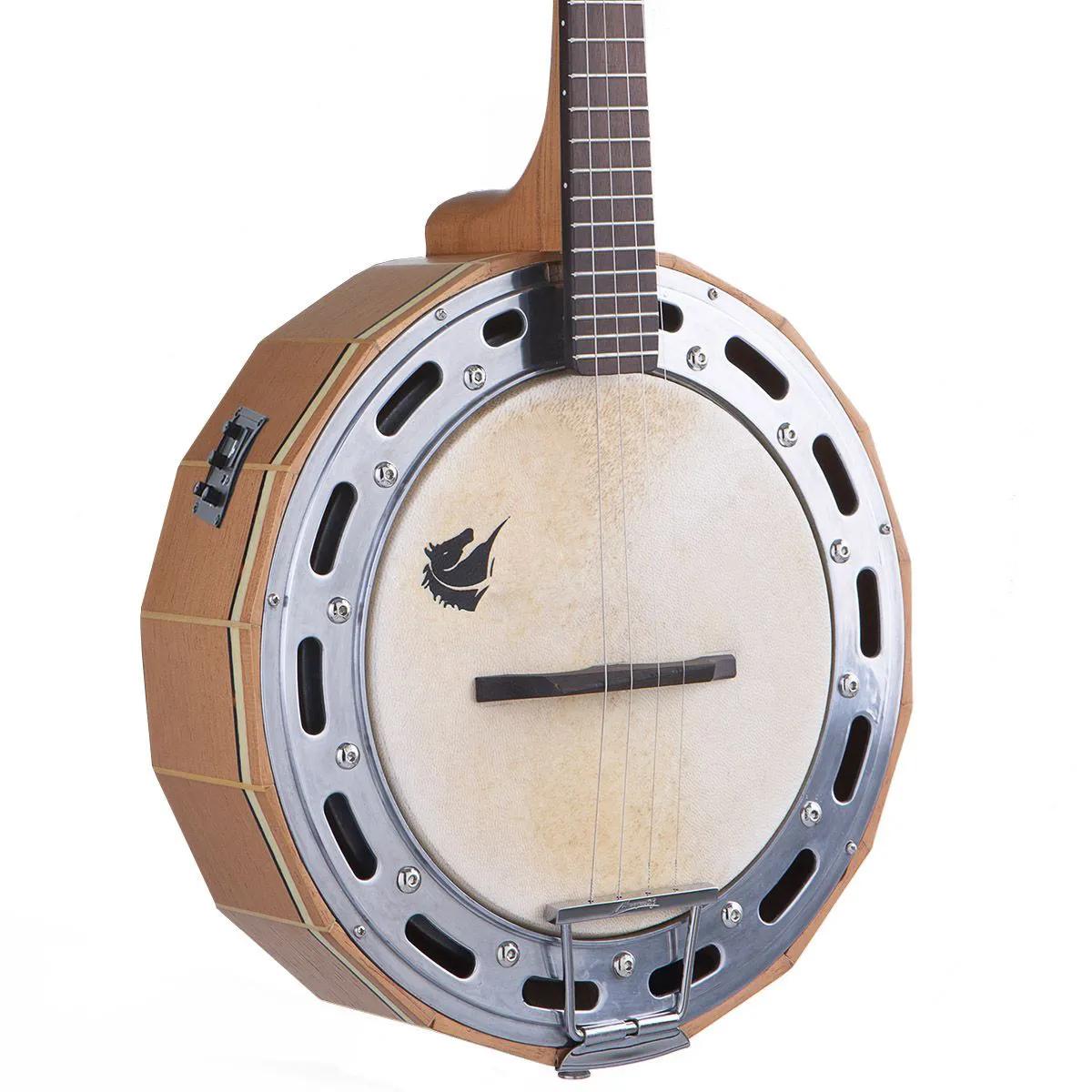 Banjo Eletro-Acústico Marquês BAJ-98 Madeira Ativo Natural