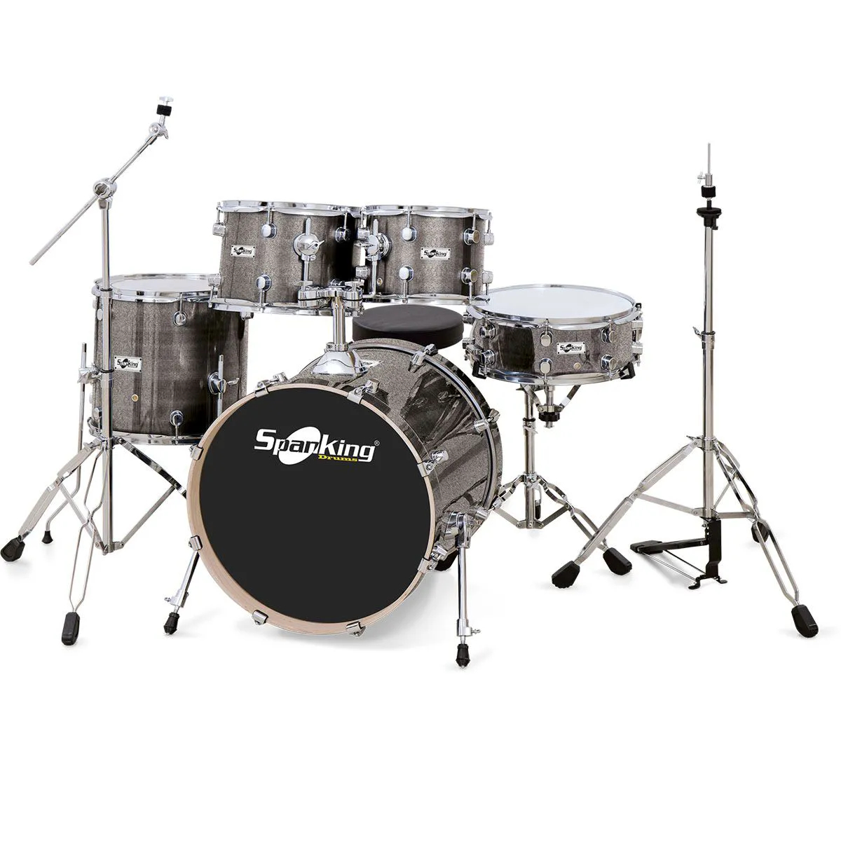 Bateria Acústica Spanking Chrome Light Sparkle 22