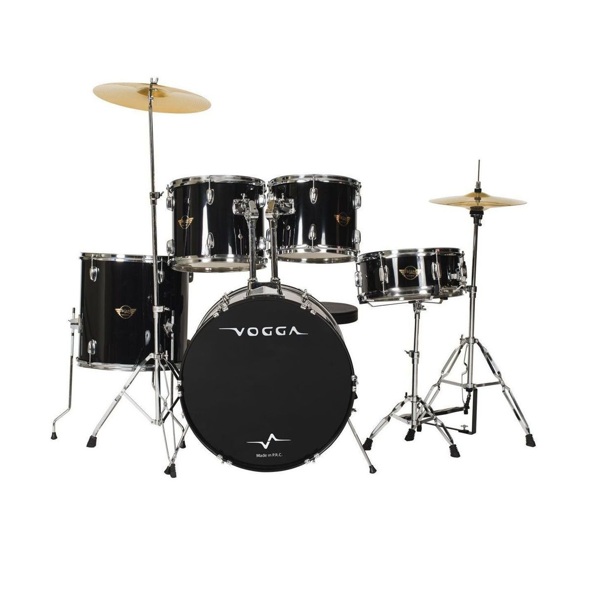 Bateria Acústica Vogga VPD922 Talent 22 Black
