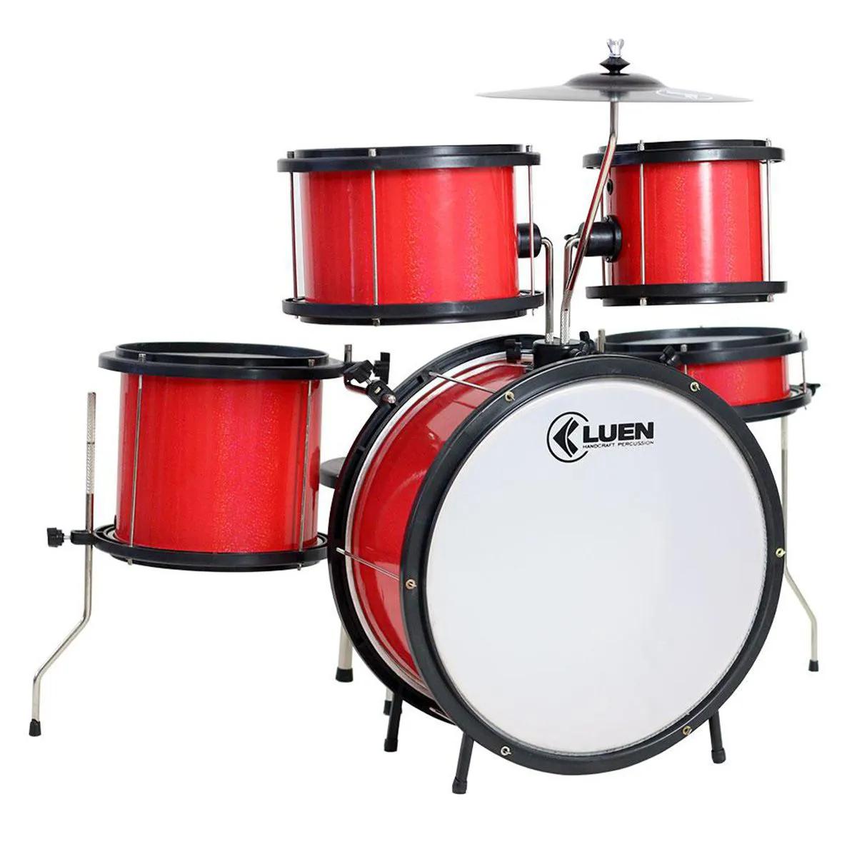 Bateria Infantil Luen Percussion Pop Bumbo 14 Vermelha