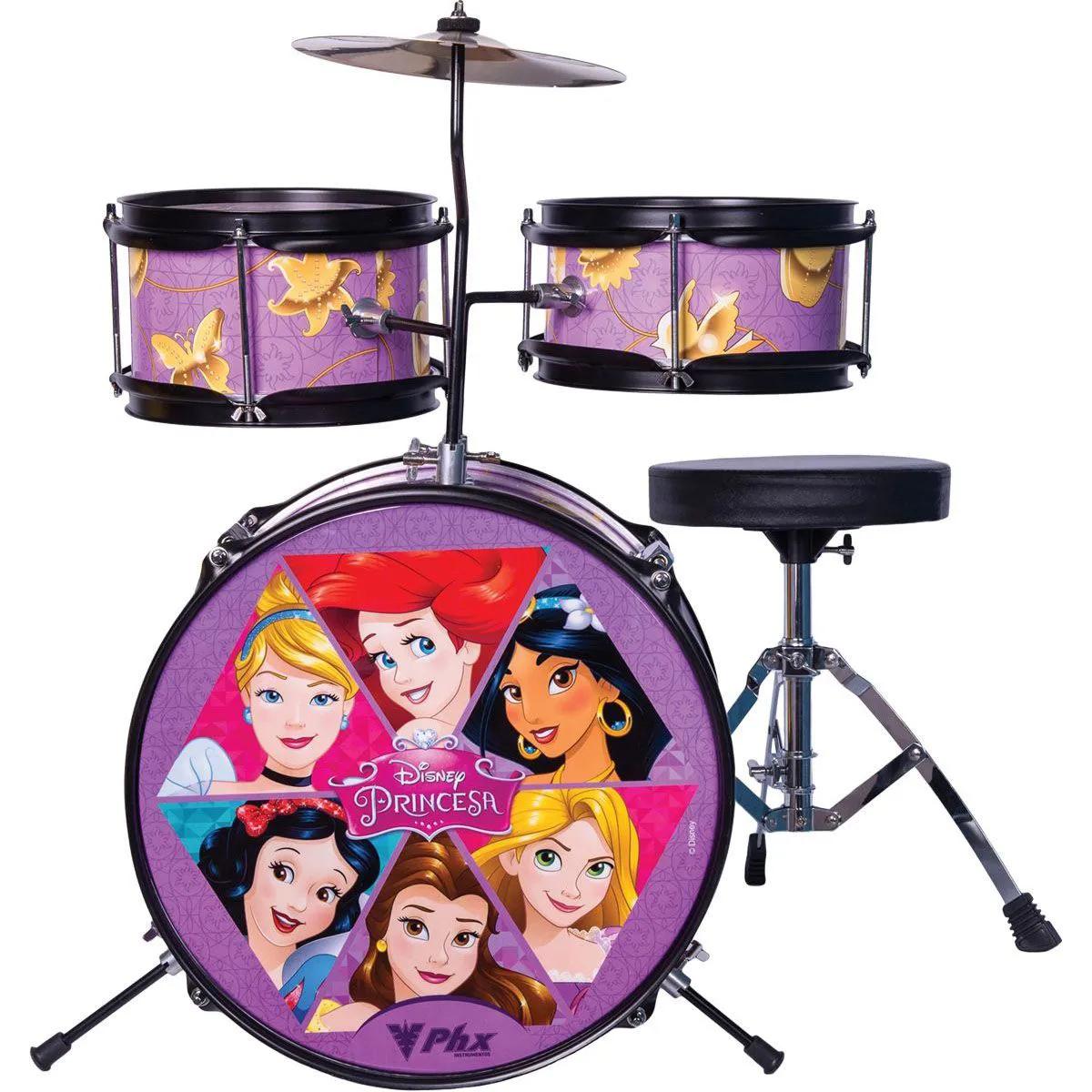 Bateria Infantil PHX BID-P1 Disney Princesas 14