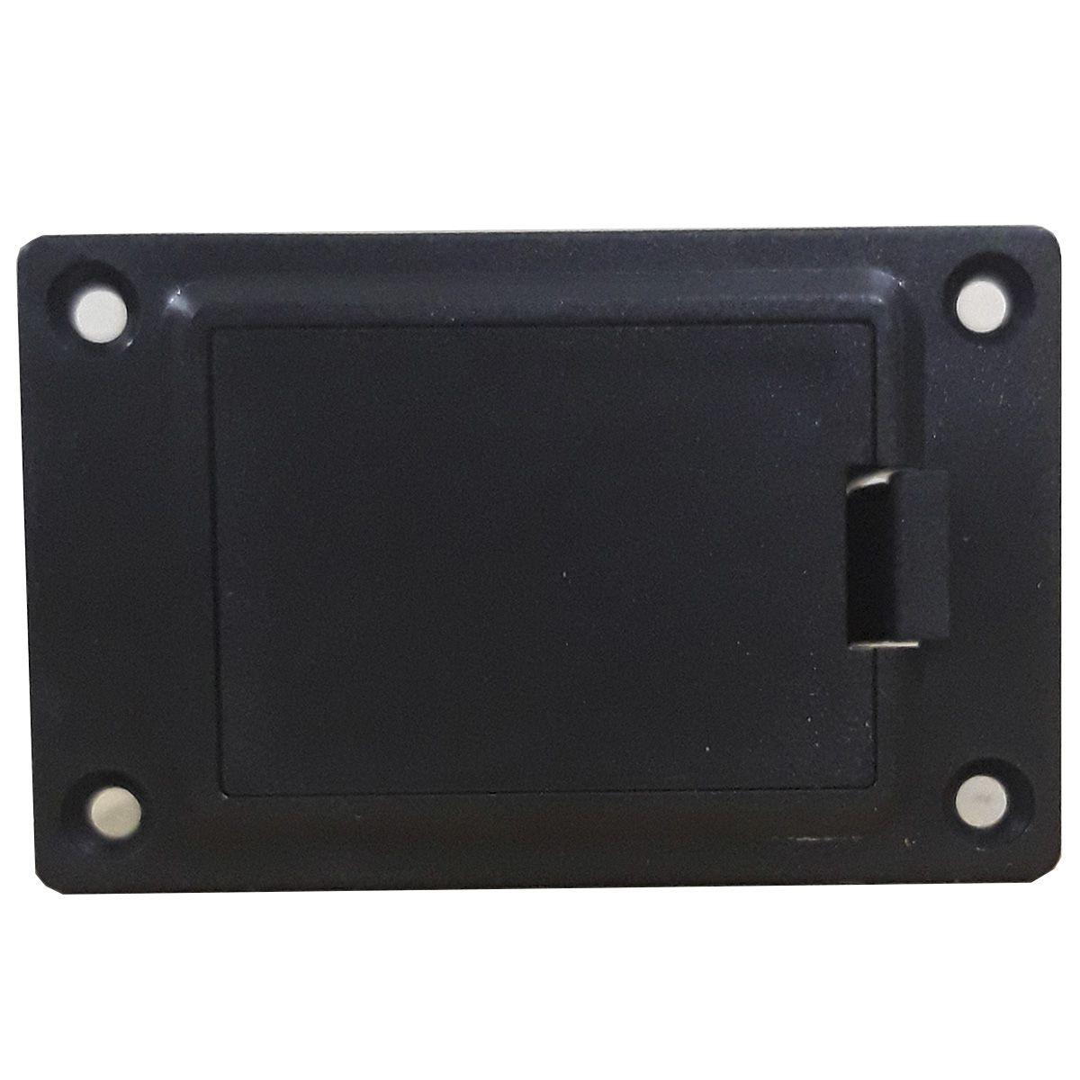 Box com Gaveta Ronsani Plástico Preto para Bateria 9V