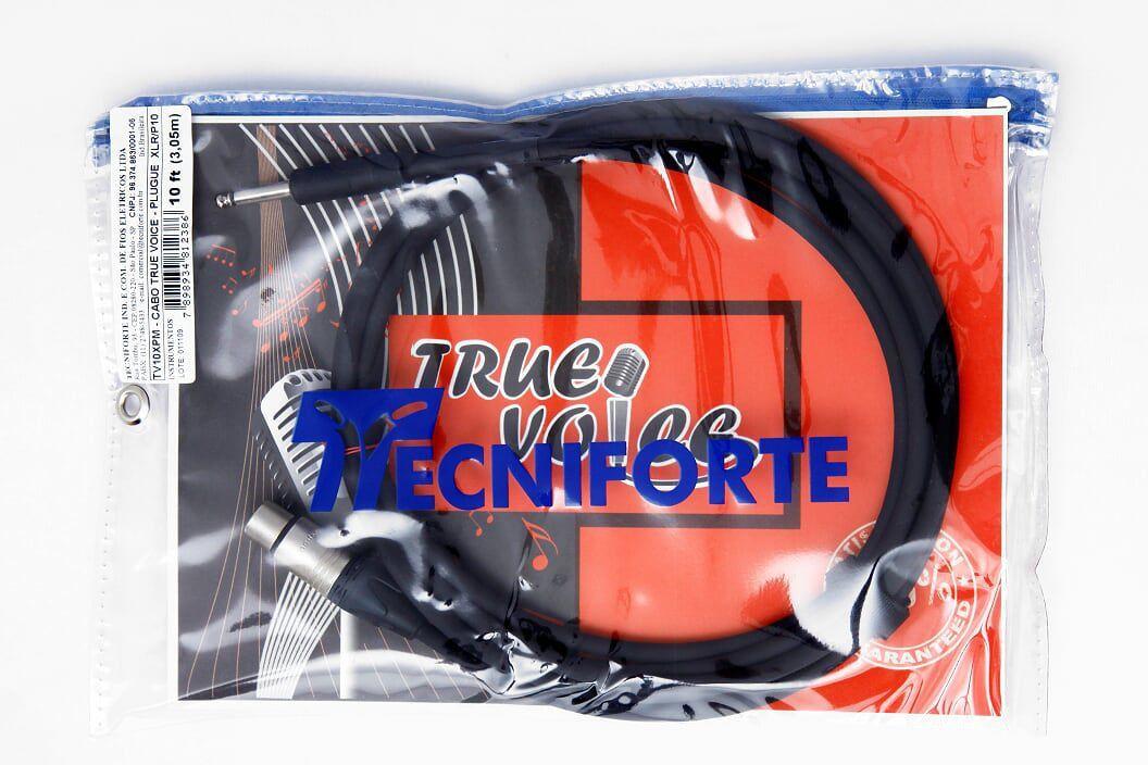 Cabo para Microfone Tecniforte True Voice XLR/P10 3,05m