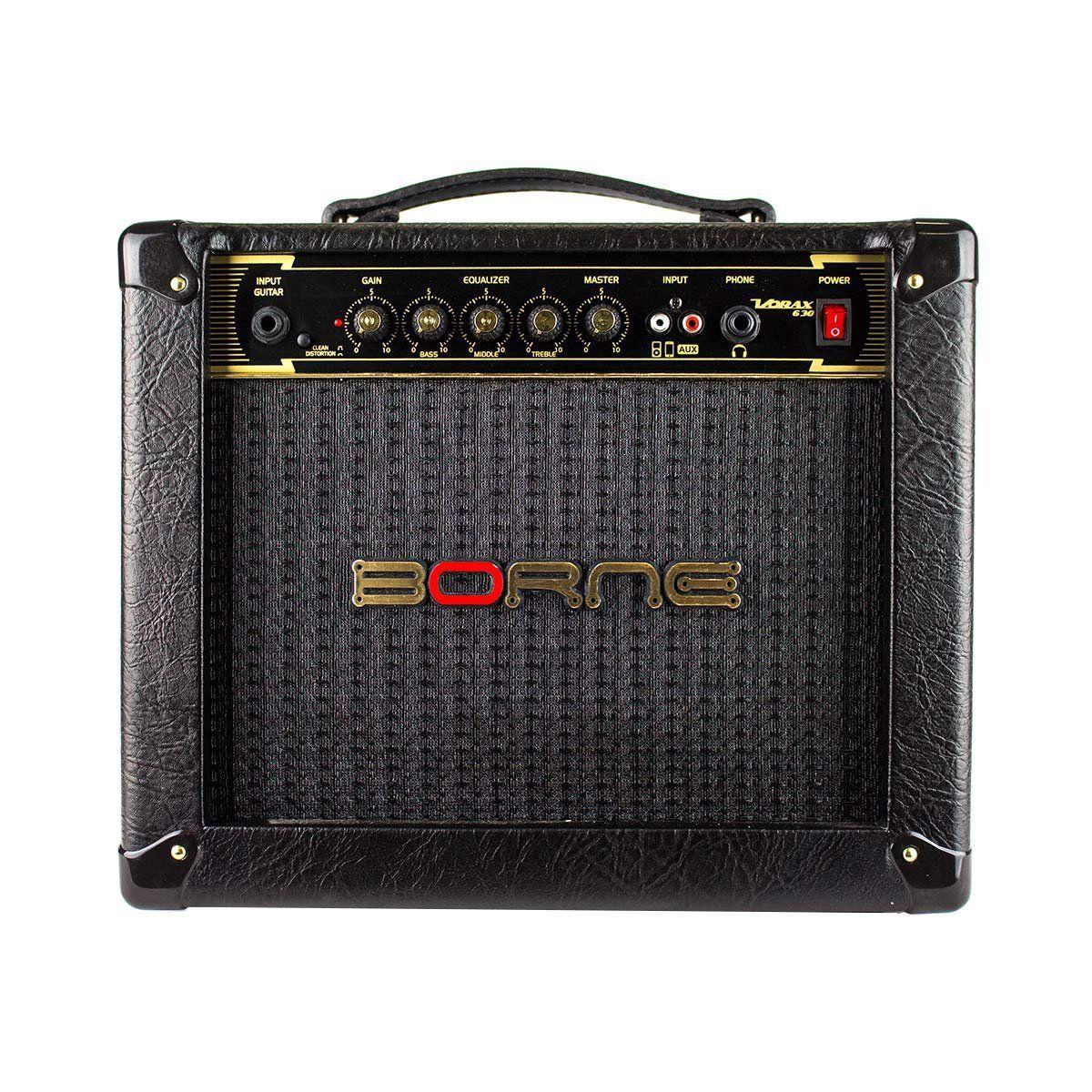 Caixa Amplificada Borne Vorax 630 1x6 25W RMS