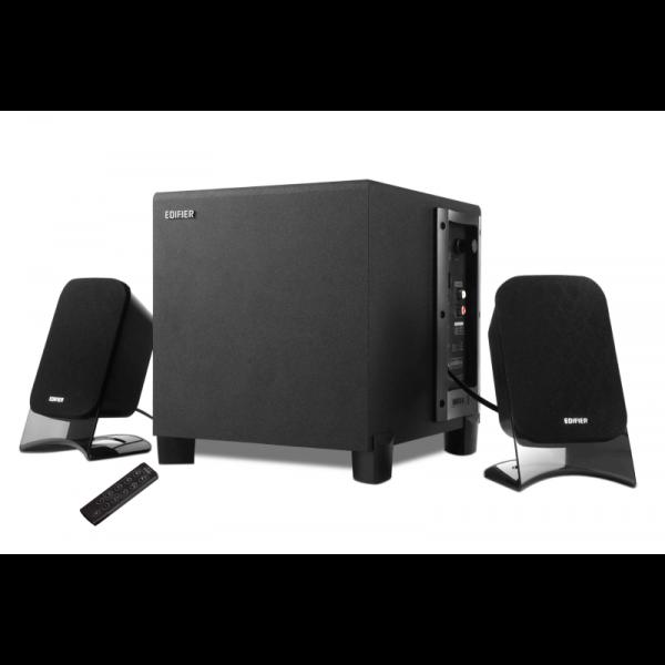 Caixa Multimídia 2.1 Edifier XM2PF 21W RMS com FM/USB/SD Bivolt Preta