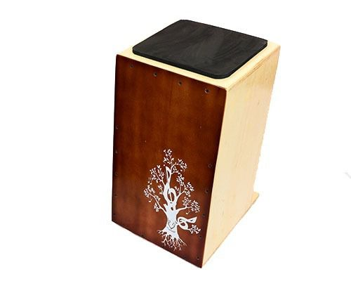 Cajon Inclinado Real Line Up Florescer Acústico Chocolate