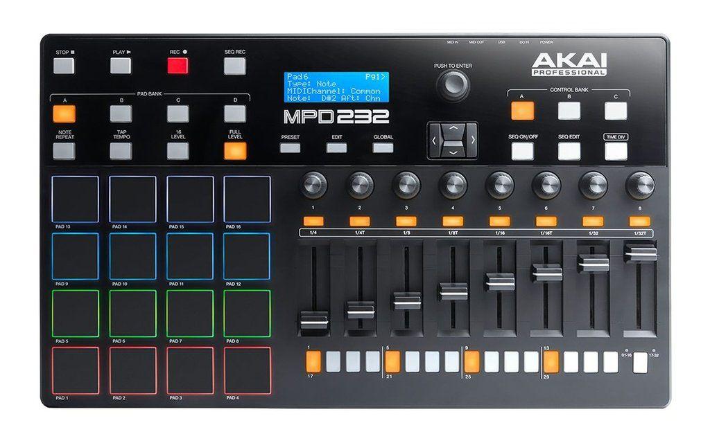 Controlador Akai Professional MPD 232 USB