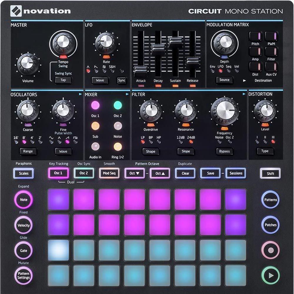Controlador Novation Circuit Mono Station Synthesizer USB