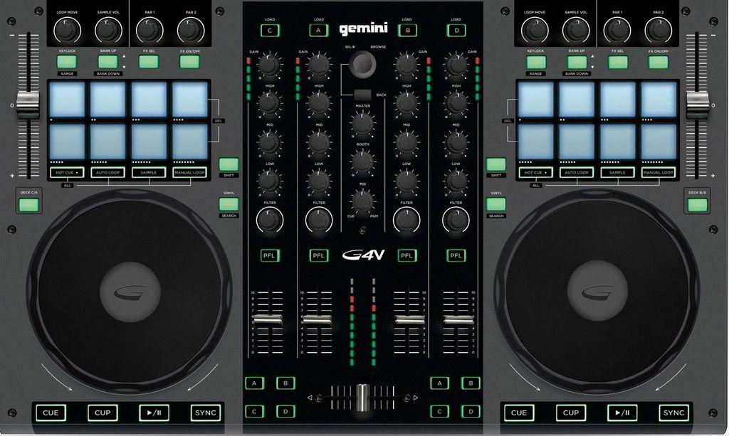 Controladora DJ Gemini G4V USB 4 Canais