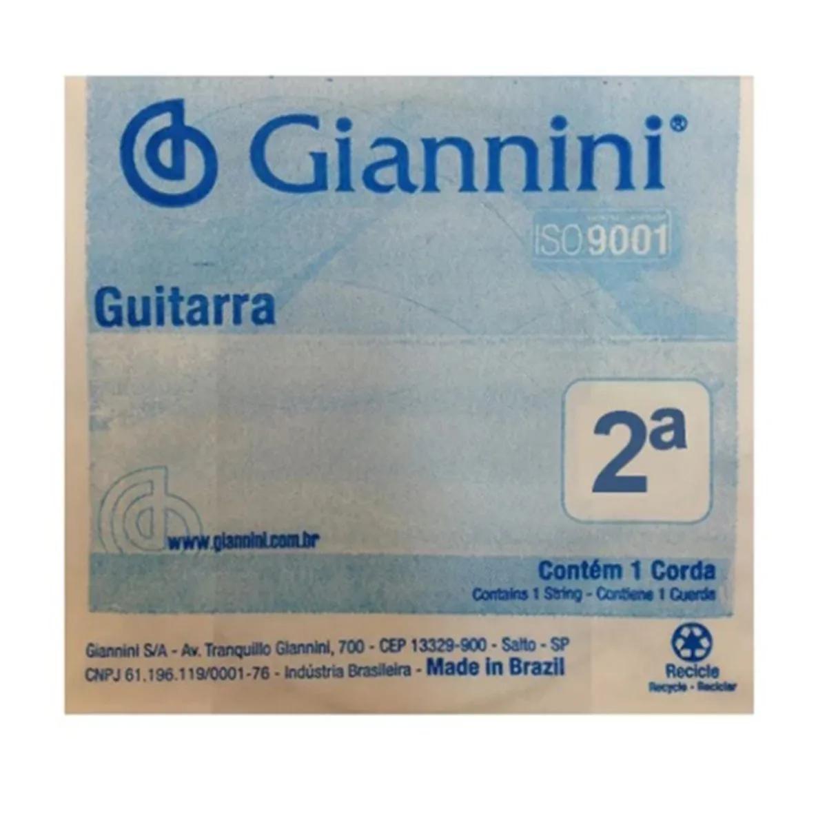 Corda Avulsa Giannini GEEGST10.2 0.13 para Guitarra