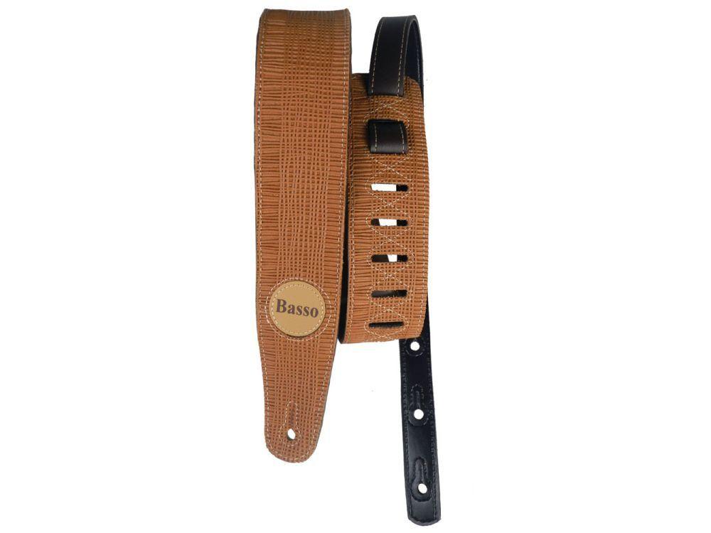 Correia de Couro Basso SB07 Vintage Palha para Instrumentos de Corda