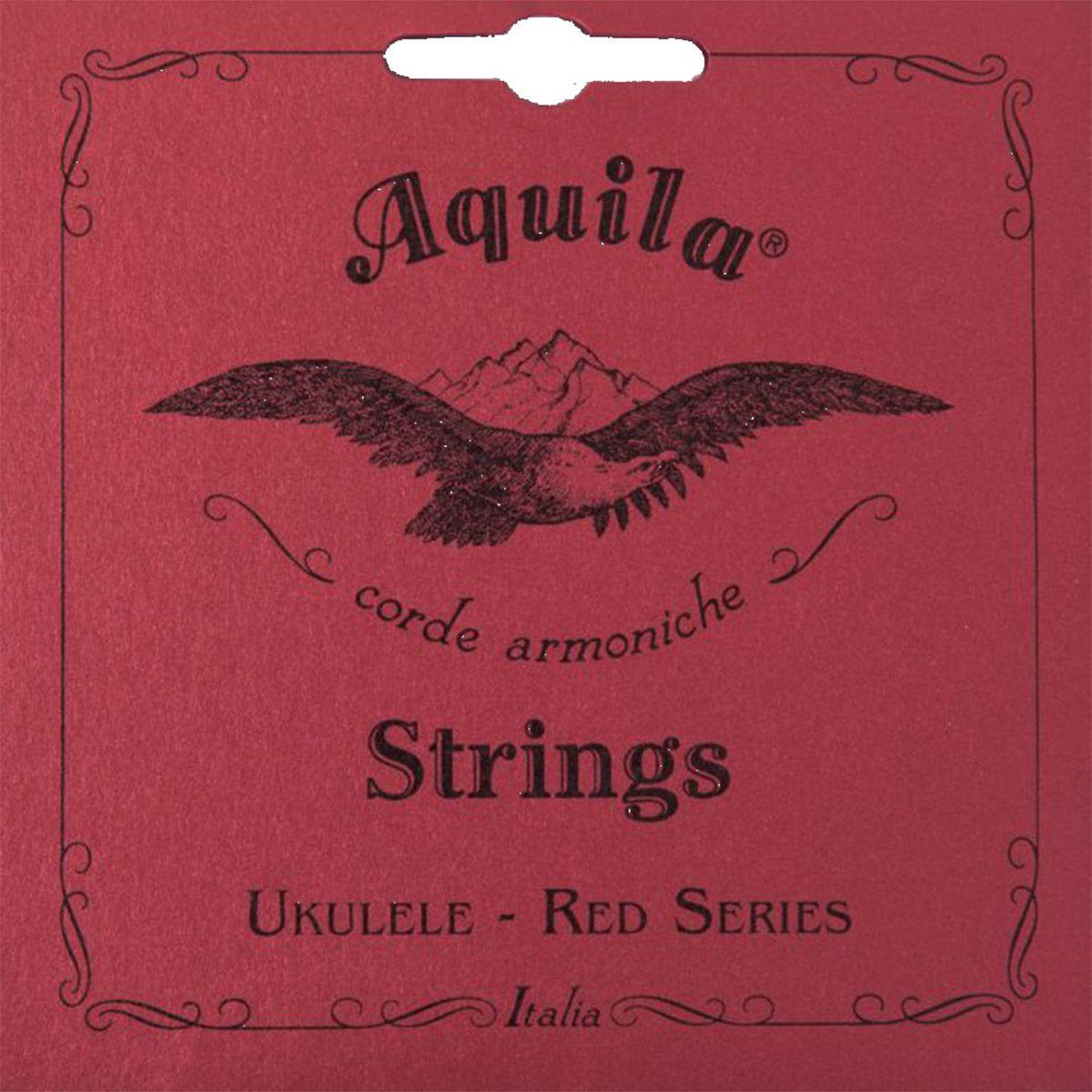 Encordoamento Aquila 83U Red Series High G Ukulele Soprano