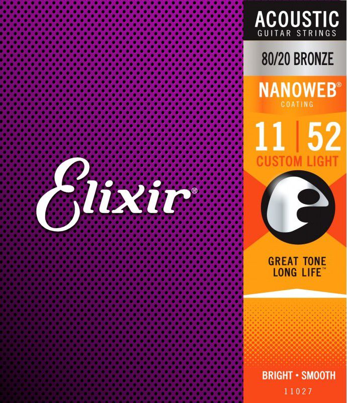 Encordoamento Elixir 0.11/0.52 Custom Light 11027 Nanoweb para Violão