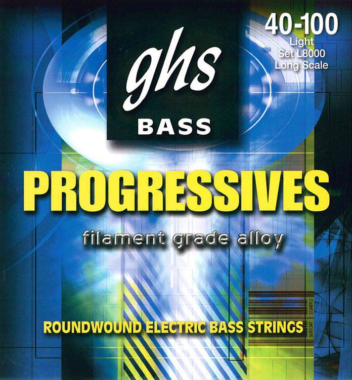 Encordoamento GHS L8000 Bass Progressives .040 /.100 para Contrabaixo