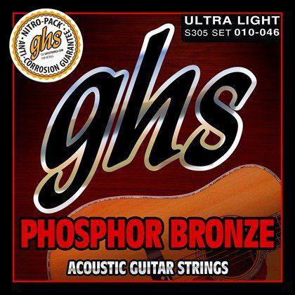 Encordoamento GHS S305 Phosphor Bronze 010 /046 para Violão