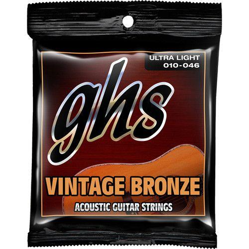 Encordoamento GHS VN-UL Vintage Bronze .010 /.046 para Violão