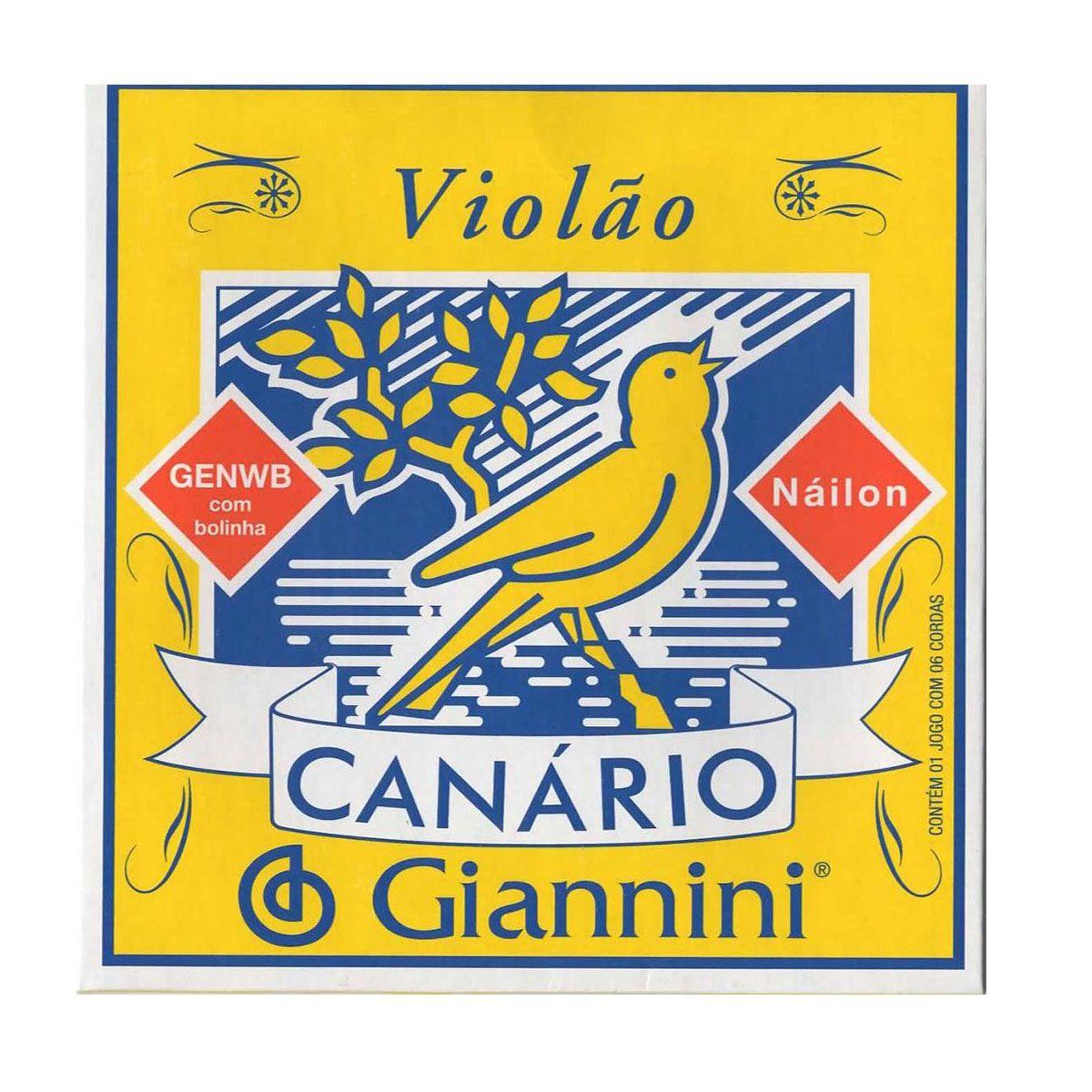 Encordoamento Giannini GENWB .028/.043 Canário Para Violão