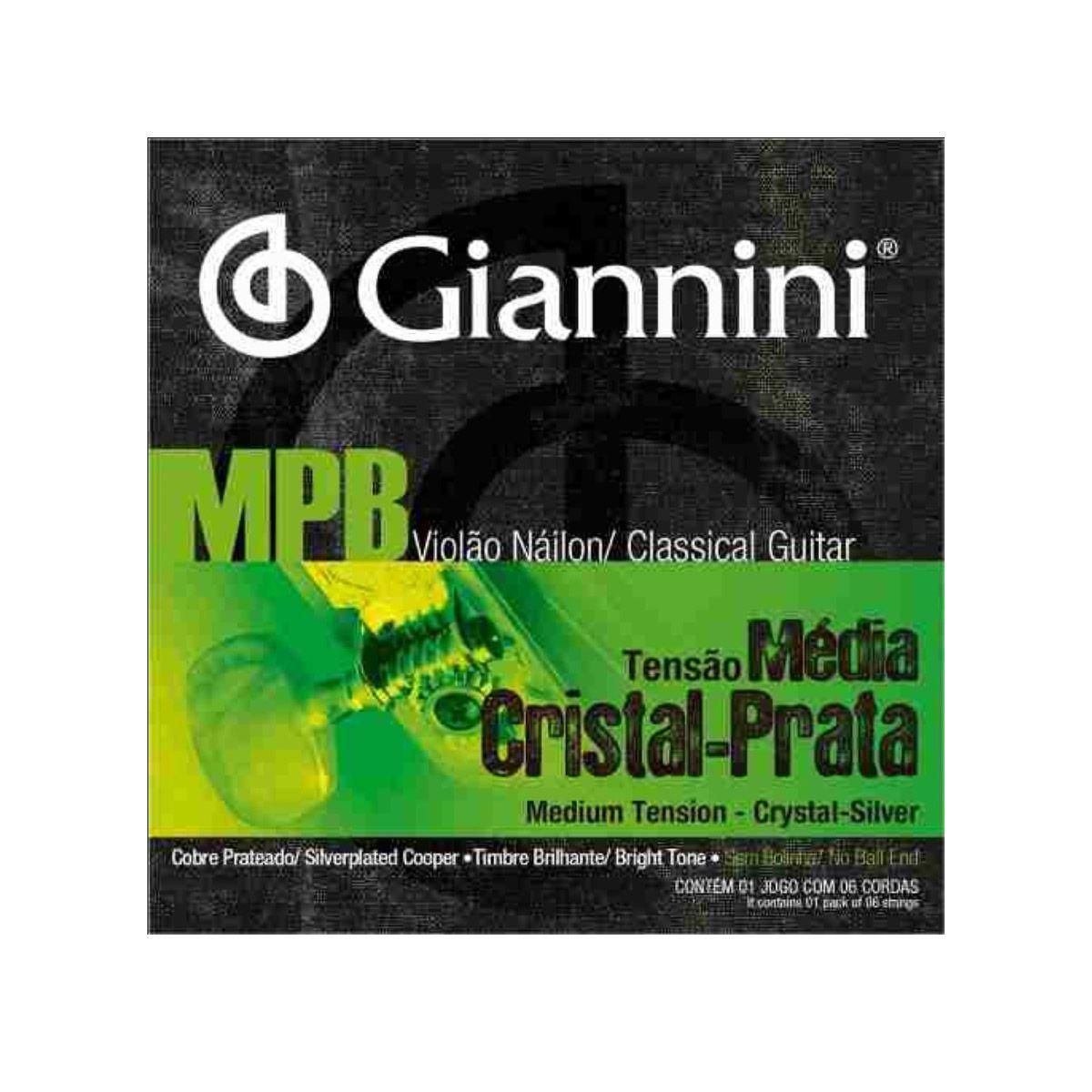 Encordoamento Giannini Genws .028/.043 Mpb Series P/ Violão