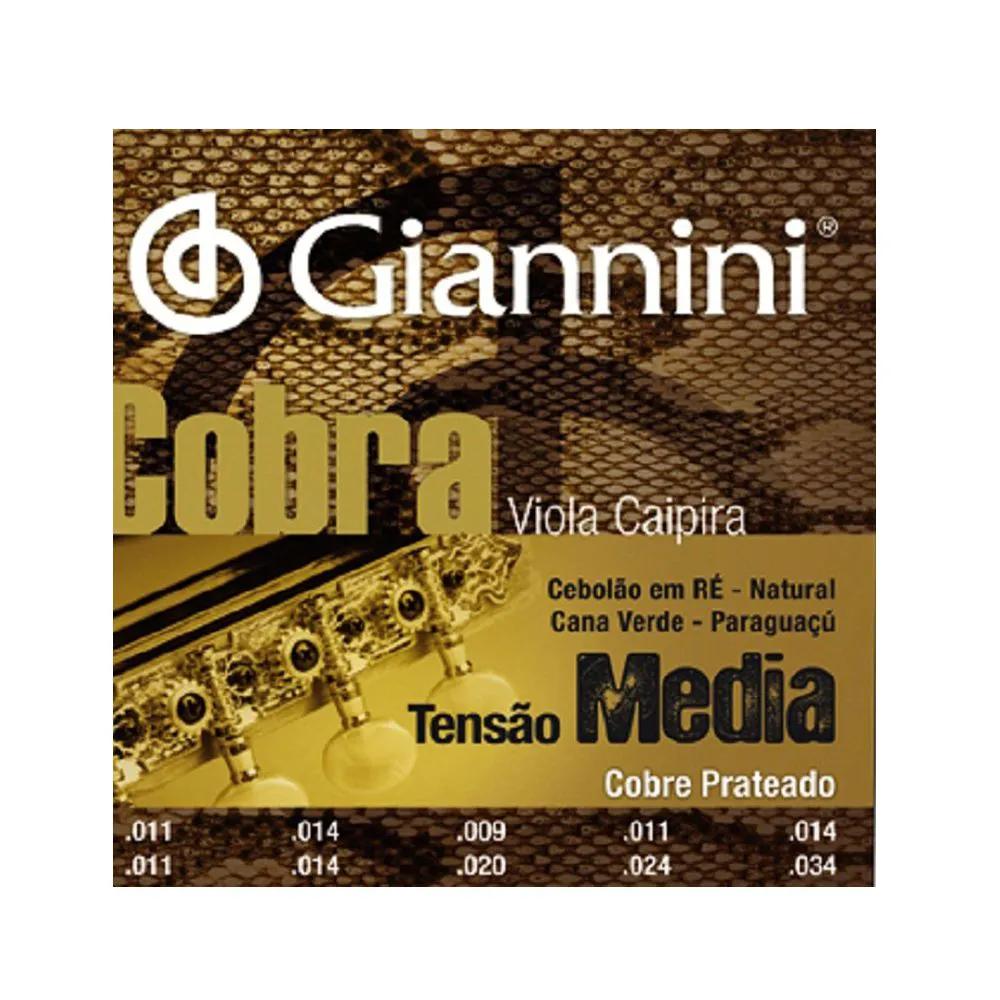 Encordoamento Giannini GESVM 011/034 Ré para Viola Caipira