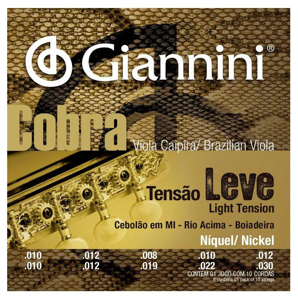Encordoamento Giannini GESVNL 010/.030 Mi para Viola Caipira
