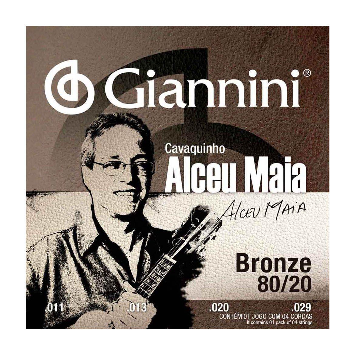Encordoamento Giannini Sscvam .011/.029 Alceu Maia P/ Cavaco
