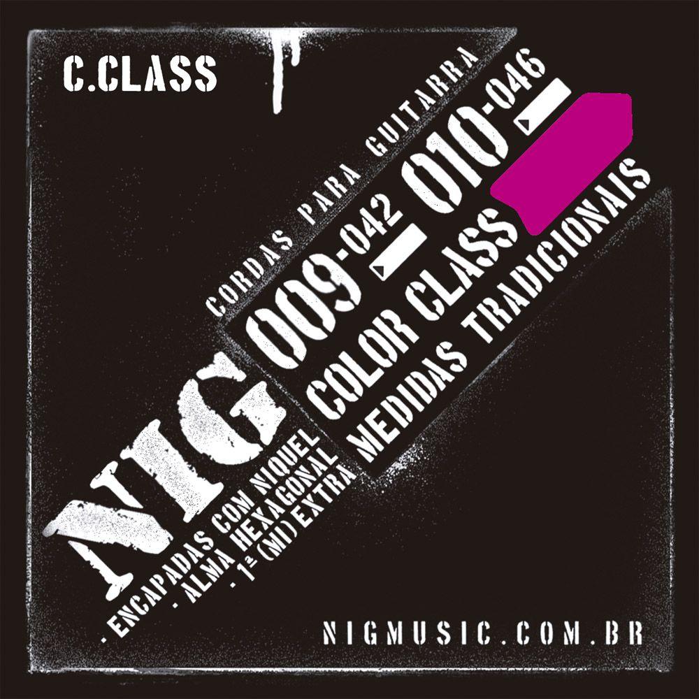Encordoamento NIG Color Class .009/042 Rosa para Guitarra