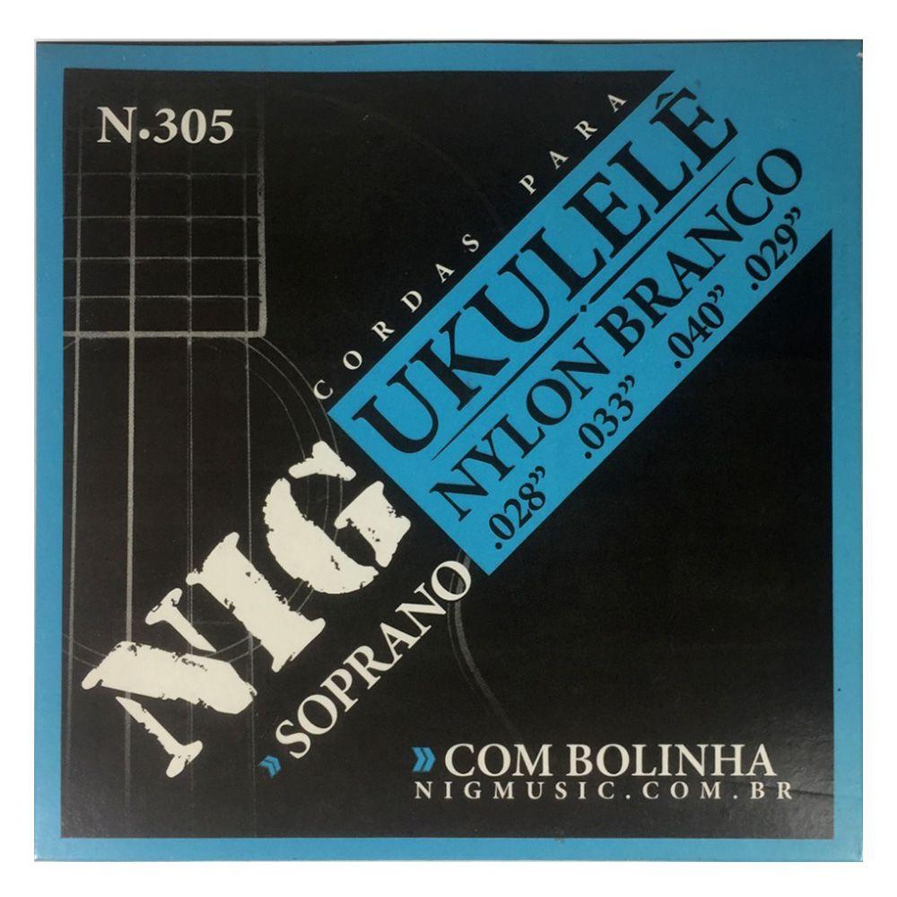 Encordoamento Nig N-305 028/028 para Ukulele Soprano