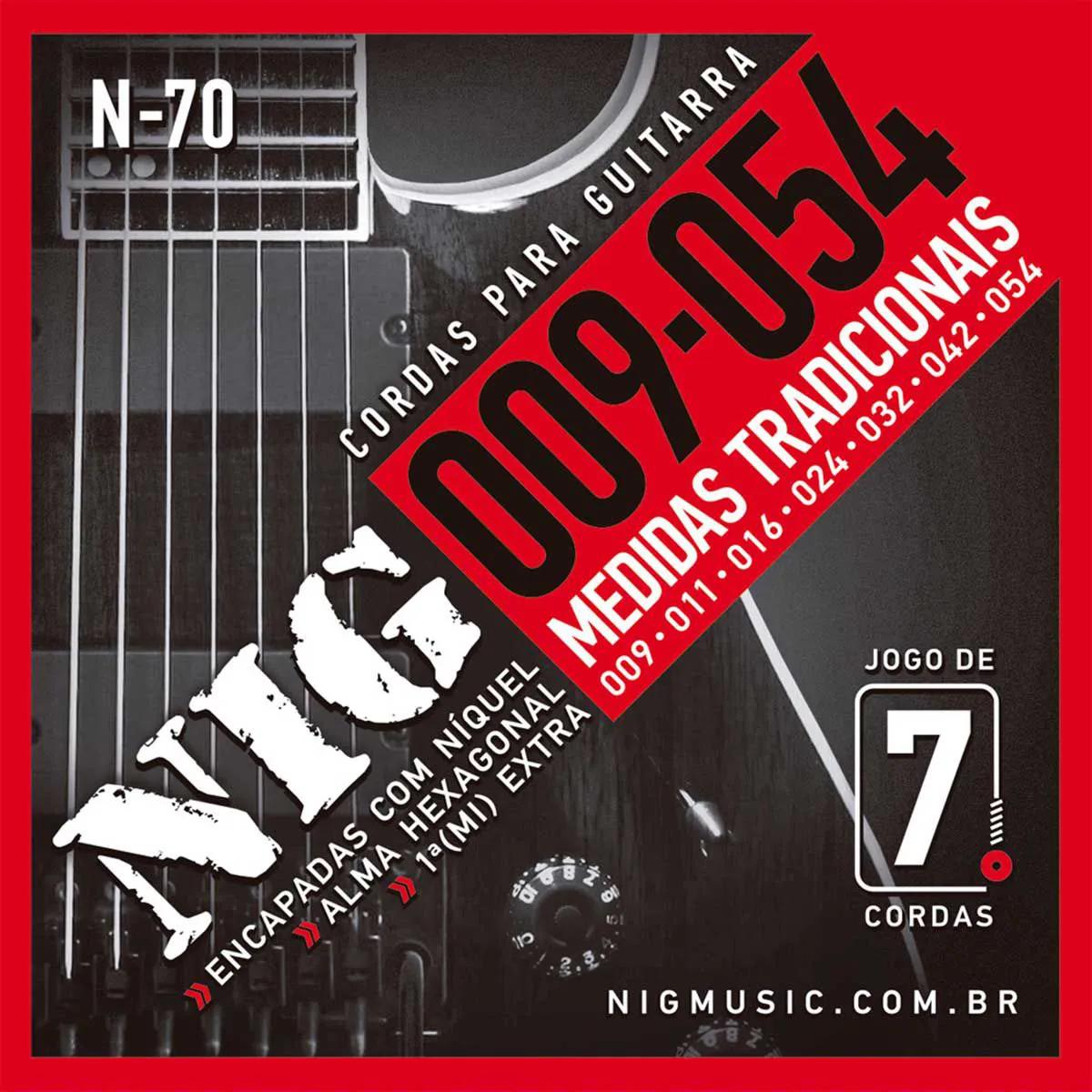 Encordoamento Nig N-70 009/054 para Guitarra Elétrica 7C