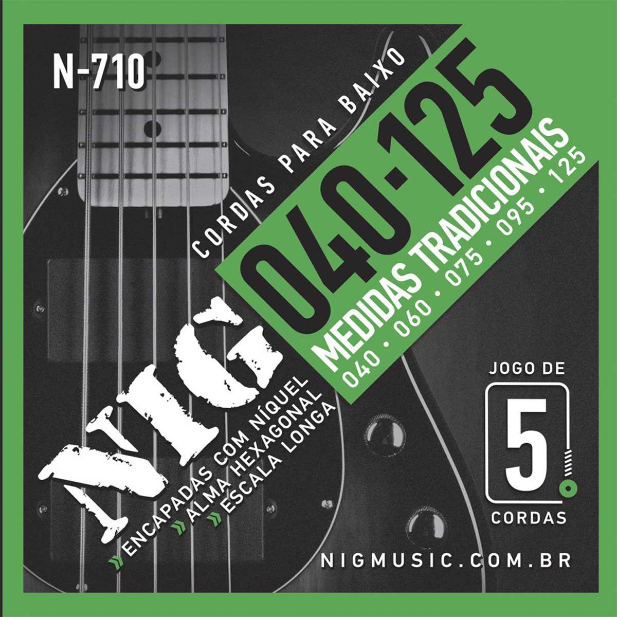 Encordoamento Nig N-710 040/125 para Contrabaixo 5C