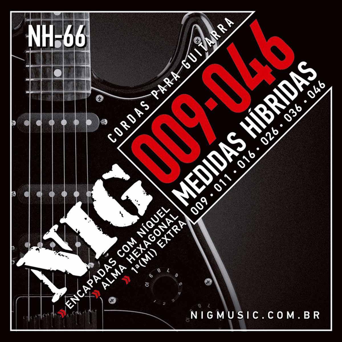 Encordoamento Nig NH-66 009/046 Híbrida para Guitarra