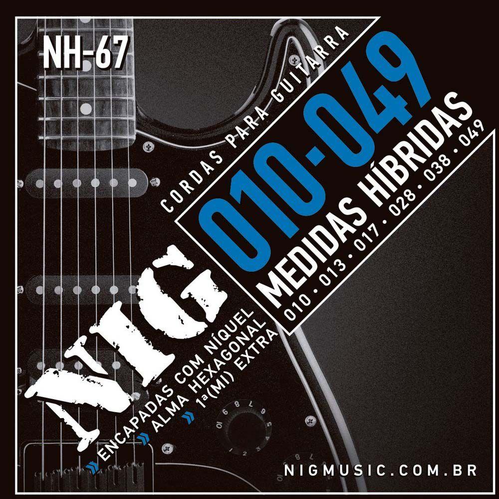 Encordoamento Nig NH-67 010/049 Híbrida para Guitarra