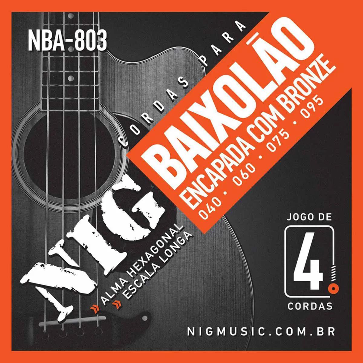 Encordoamento Nig Série NBA803 040/095 para Baixolão