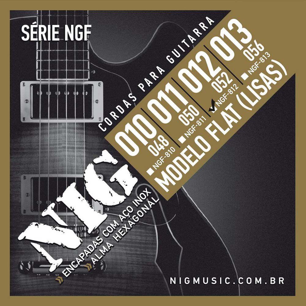 Encordoamento Nig Série NGF-812 012/52 Flat para Guitarra