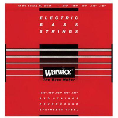 Encordoamento Warwick 42210 Red Strings 4c .040/.100 P/baixo