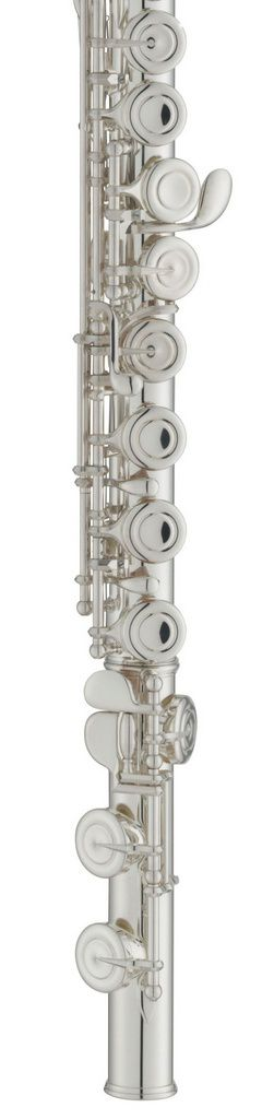 Flauta Transversal Yamaha YFL222 C Prata para Estudante com Case