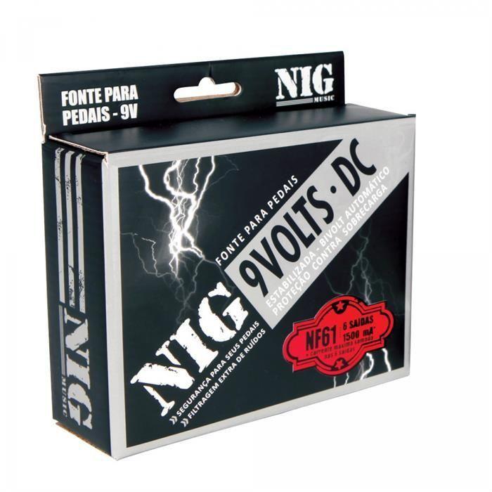 Fonte Estabilizada 9V Nig para Pedal com 6 Saídas Bivolt