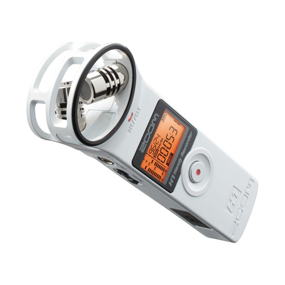 Gravador Digital Portátil Zoom H1 Handy Recorder White