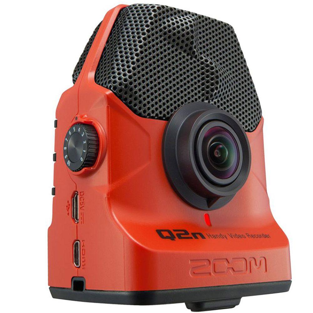 Gravador Digital Zoom Q2n de Áudio e Vídeo Red