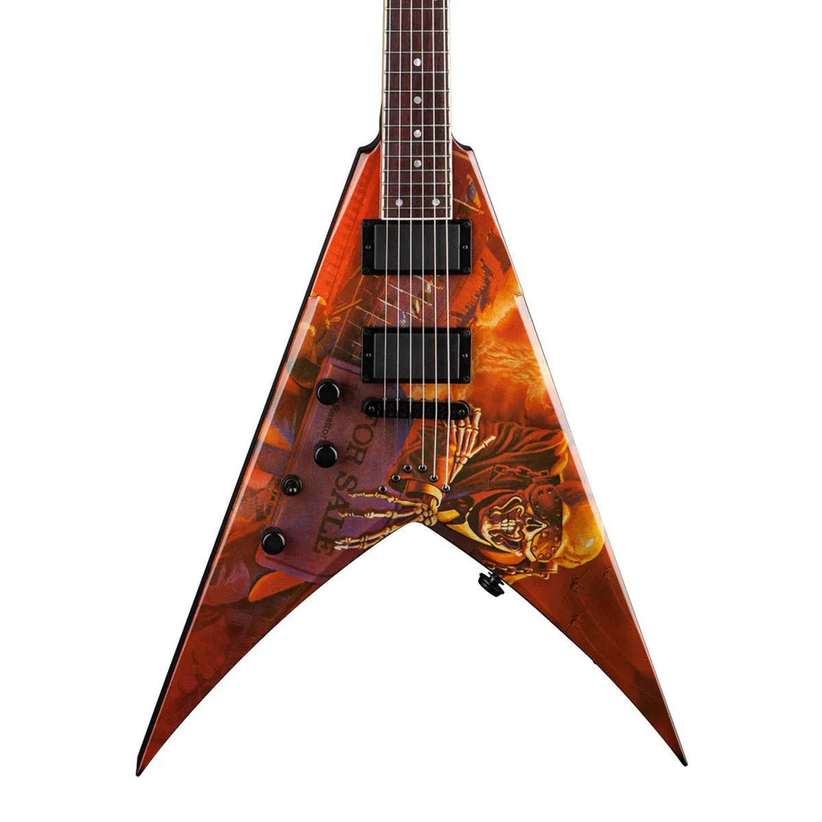 Guitarra Dean VMNT PS Lefty V Dave Mustaine Peace Sells